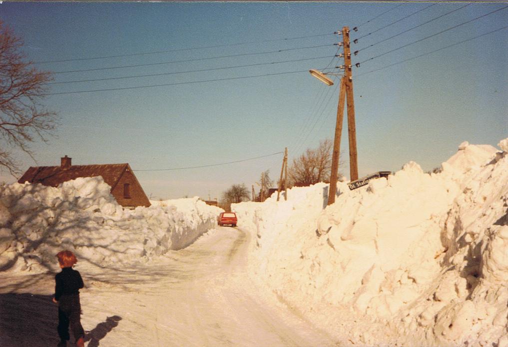 Gl. Staionsvej i Bursø januar 1979