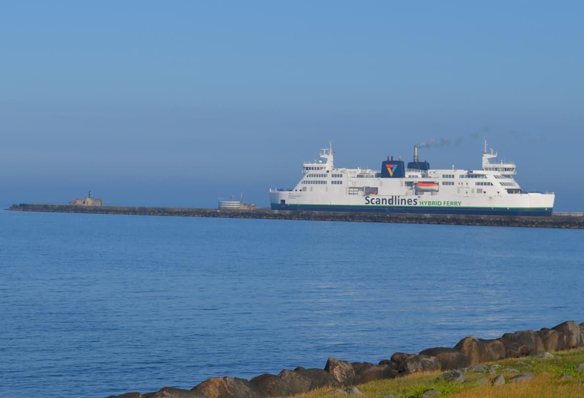 Scandlines-færge på vej til Puttgarden