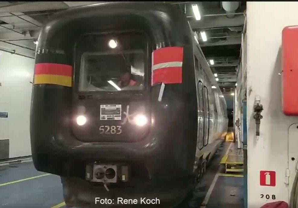 Sidste togtur på færge